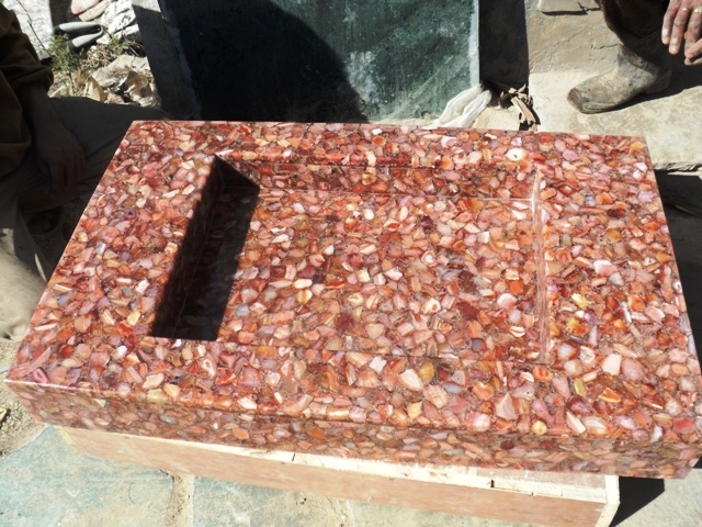 Semi Precious Stone Basin Gemstone Basin in India Rajasthan Udaipur